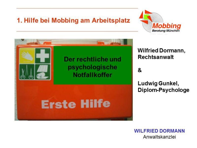 Erste Hilfe Notfallkoffer bei Mobbing