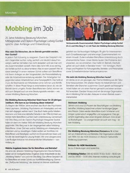 MobbingBeratung News AOK Bayern bleibgesund